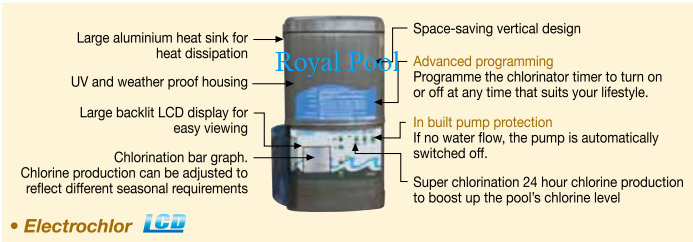 Máy điện phân muối Waterco 25A -LCD